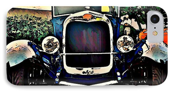 Blue Hot Rod Phone Case by Stanley  Funk