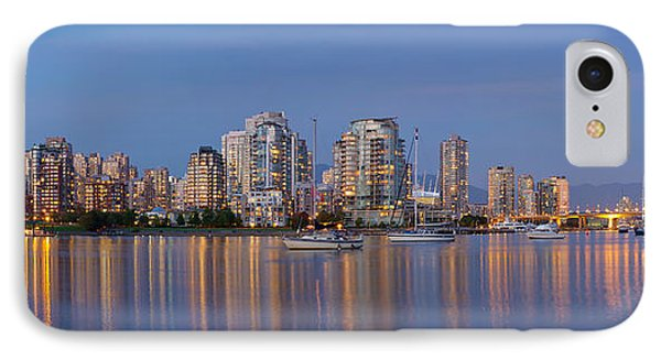 IPhone Case featuring the photograph Blue Hour At False Creek Vancouver Bc Canada by JPLDesigns