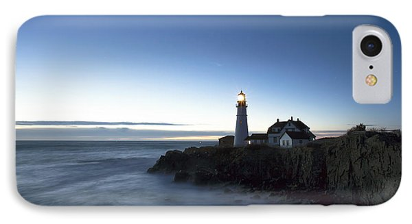 Blue Hour At Portland Head Phone Case by Eric Gendron
