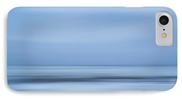 Blue Hour Beach Abstract IPhone Case by Linda Villers