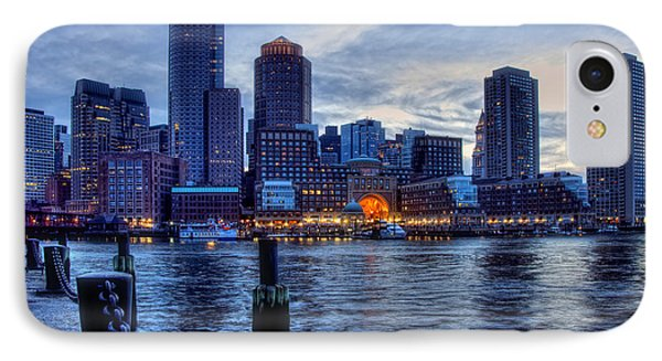 Blue Hour On Boston Harbor IPhone Case by Joann Vitali