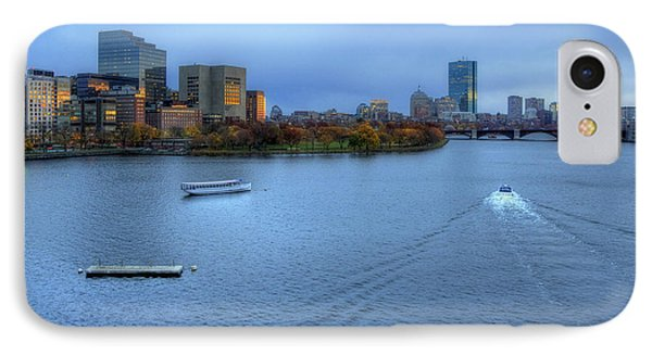 Blue Hour On The Charles IPhone Case by Joann Vitali
