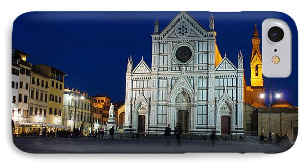 Blue Hour - Santa Croce Church Florence Italy IPhone Case