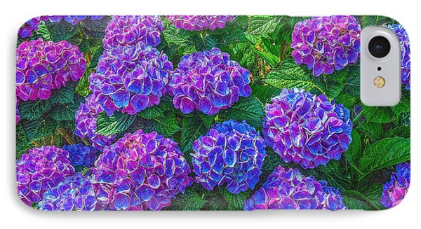 IPhone Case featuring the photograph Blue Hydrangea by Hanny Heim