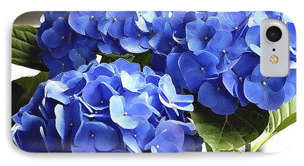 IPhone Case featuring the photograph Blue Hydrangea by Lehua Pekelo-Stearns