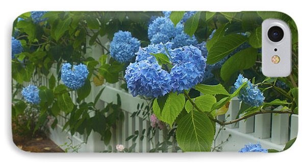 IPhone Case featuring the photograph Blue Hydrangeas by Amazing Jules