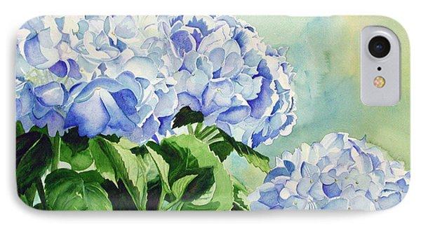 Blue Hydrangeas Phone Case by Elizabeth  McRorie