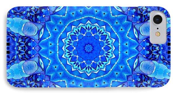 Blue Hydrangeas Flower Kaleidoscope IPhone Case by Rose Santuci-Sofranko