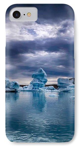 Blue Ice 2 IPhone Case by Michaela Preston