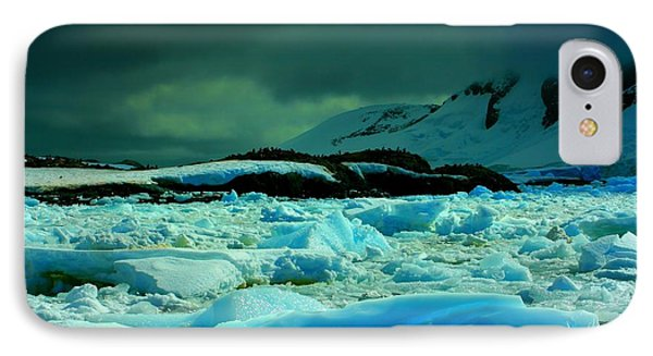 IPhone Case featuring the photograph Blue Ice Flow by Amanda Stadther