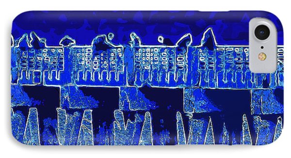 IPhone Case featuring the painting Blue II Toy Sailboats In Lake Worth by David Mckinney
