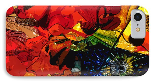 IPhone Case featuring the digital art Blue In A Playground Of Red by Kirt Tisdale