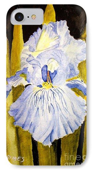 Blue Iris IPhone Case by Carol Grimes