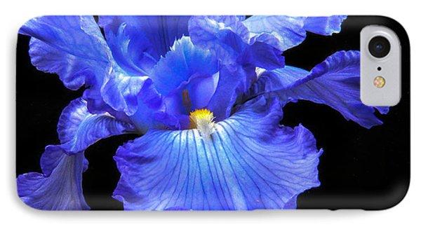 Blue Iris IPhone Case by Robert Bales