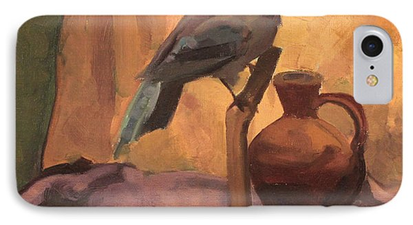 Blue Jay And Pottery 1929 IPhone Case
