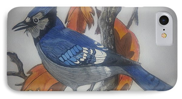Blue Jay At Fall IPhone Case