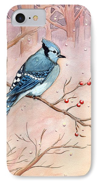 IPhone Case featuring the painting Blue Jay by Katherine Miller
