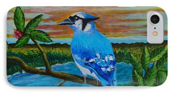 Blue Jay  IPhone Case by Manny Chapa
