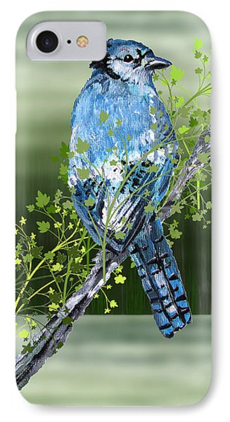 IPhone Case featuring the digital art Blue Jay Mixed Media by Barbara Giordano