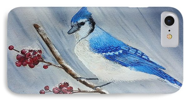 Blue Jay IPhone Case by Valorie Cross