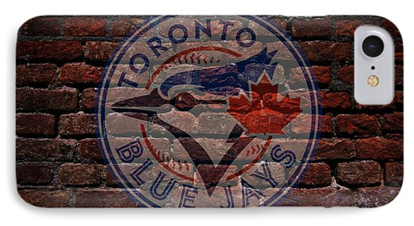 Blue Jays Baseball Graffiti On Brick  IPhone Case by Movie Poster Prints