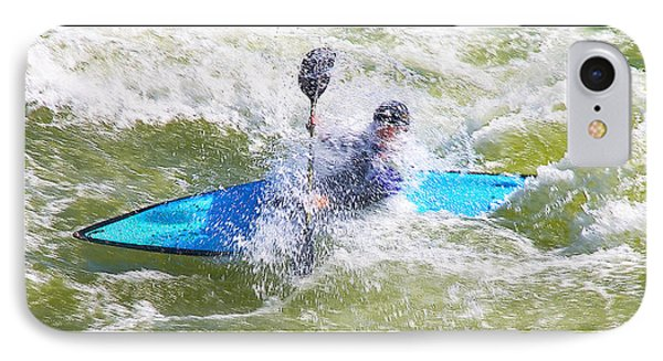 Blue Kayak At Great Falls Md IPhone Case