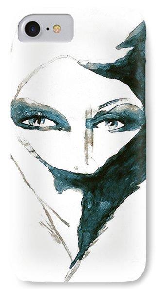 Blue Lady Art Print IPhone Case