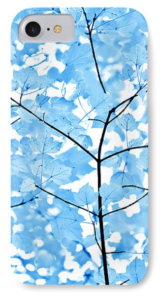 Blue Leaves Melody Phone Case by Jennie Marie Schell
