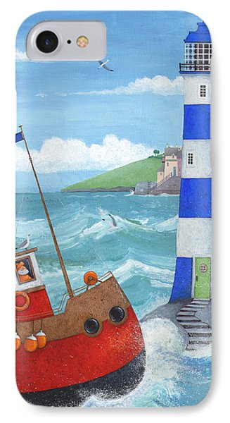 Blue Lighthouse IPhone Case by Peter Adderley