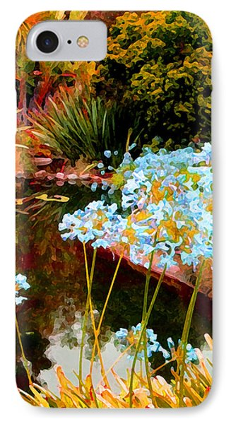 Blue Lily Water Garden Phone Case by Amy Vangsgard