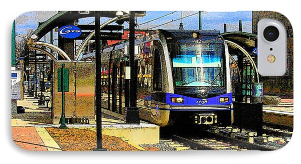 IPhone Case featuring the photograph Blue Line by Rodney Lee Williams