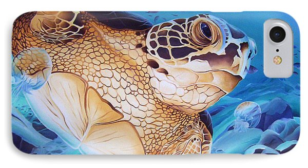 Blue Loggerhead IPhone Case by William Love