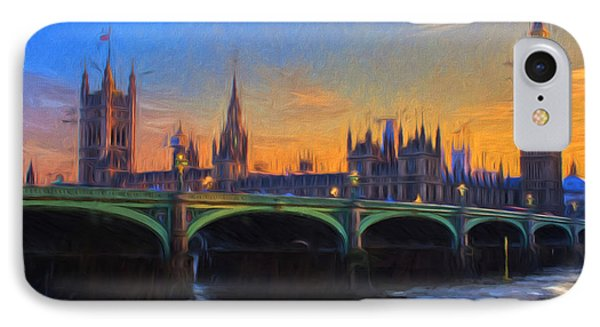 IPhone Case featuring the painting Blue London by Douglas MooreZart