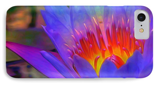 Blue Lotus IPhone Case by  Fli Art