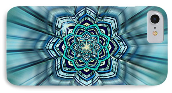 Blue Lotus Mandala IPhone Case by Deborah Smith