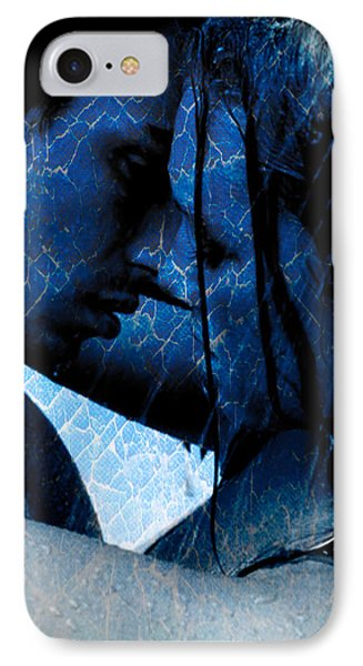 Blue Lovers IPhone Case by Teri Schuster