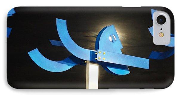 Blue Man Moon IPhone Case