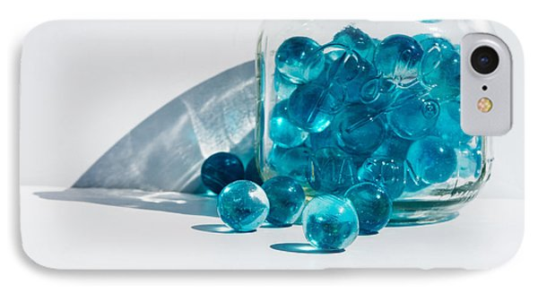 IPhone Case featuring the photograph Blue Marbles by Mary Hone