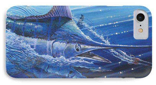 Blue Marlin Strike Off0053 Phone Case by Carey Chen