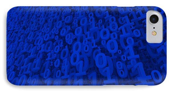 Blue Matrix IPhone Case by Vitaliy Gladkiy