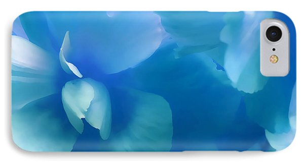 Blue Melody Begonia Floral Phone Case by Jennie Marie Schell