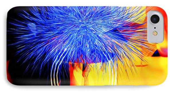 IPhone Case featuring the digital art Blue Memories by Hai Pham
