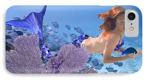 IPhone Case featuring the photograph Blue Mermaid by Paula Porterfield-Izzo