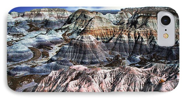 Blue Mesa - Painted Desert IPhone Case by Bob and Nadine Johnston