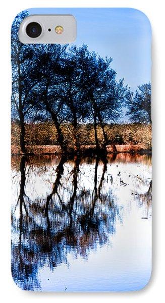 Blue Mirror IPhone Case by Edgar Laureano