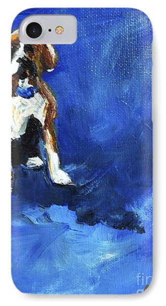 Blue Monday Phone Case by Maria's Watercolor