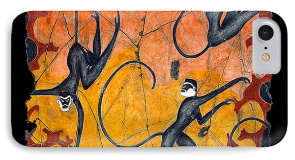 Blue Monkeys No. 9 Phone Case by Steve Bogdanoff