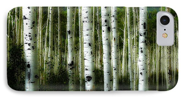 IPhone Case featuring the photograph Blue Mood Aspens I by Lanita Williams