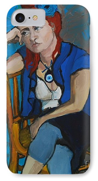 Blue Mood IPhone Case by Mona Edulesco