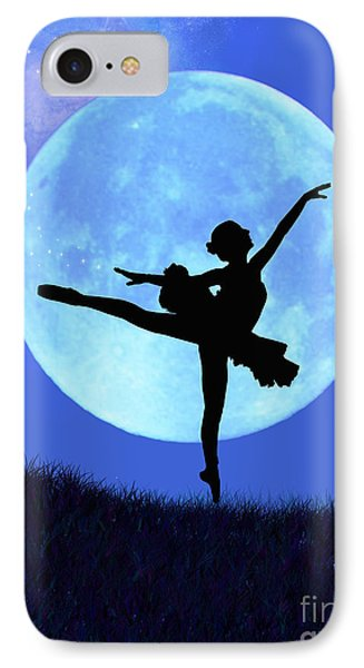 Blue Moon Ballerina IPhone Case by Alixandra Mullins